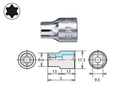 Наконечник TORX E-типа (SQ 9,5 мм)