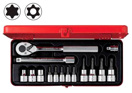 Комплект инструментов со сменными головками TORX